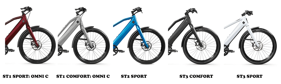 image collage of the Stromer ST1 series