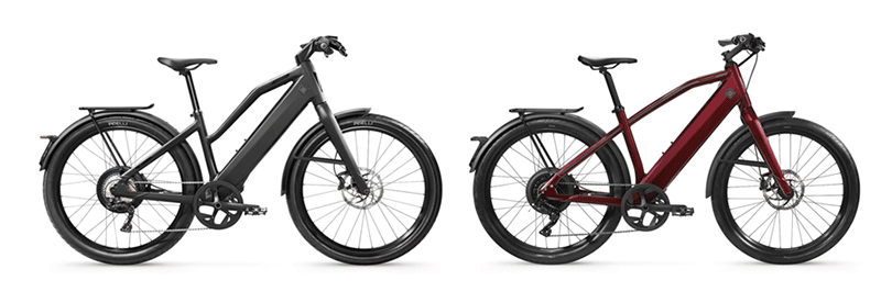 Stromer ST3 comfort on the left and Stromer ST1 Sport: Omni C on the right