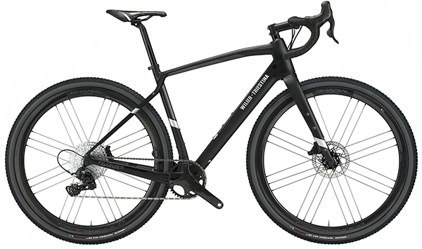 black wilier gravel bike