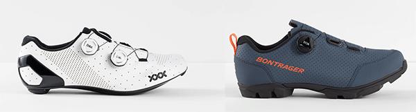 road cycling shoe vs mountain biking shoe