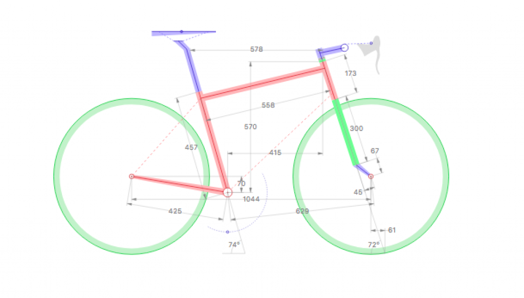bicycle geometry in numbers and degrees
