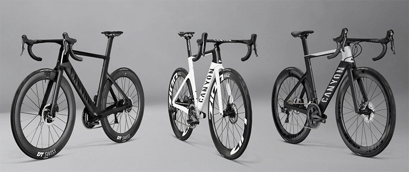 3 different canyon aeroad bicycles