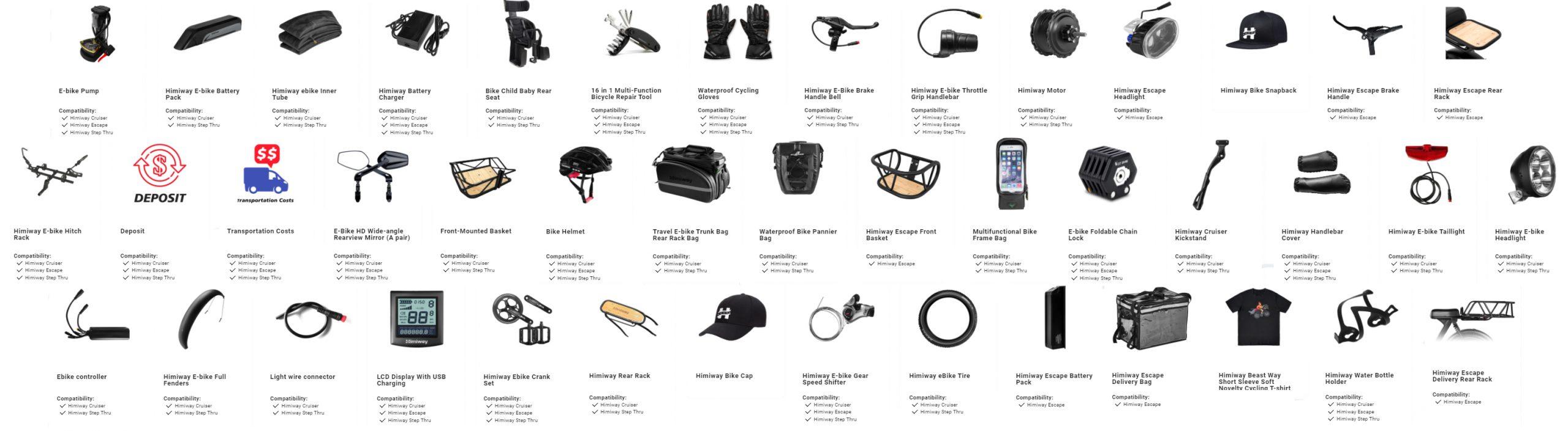 radmini accessories