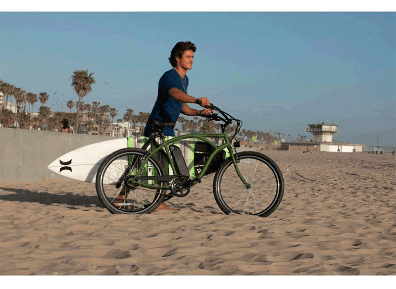 electric cruiser and surfboard