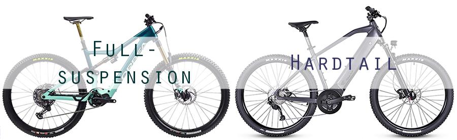 hardtail vs full suspension emtb