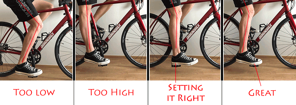 bicycle saddle height recommendation