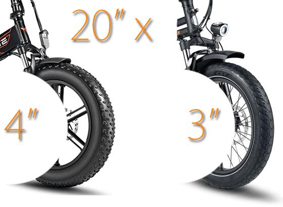 """3"""" vs 4"""" tires"""