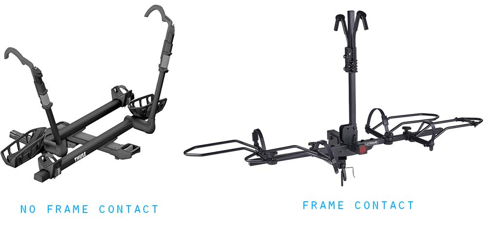 bike rack frame contact