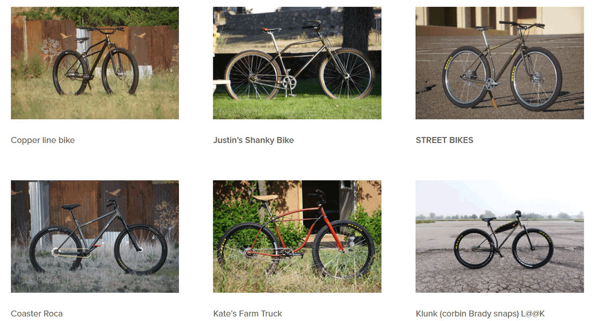 klunker bikes