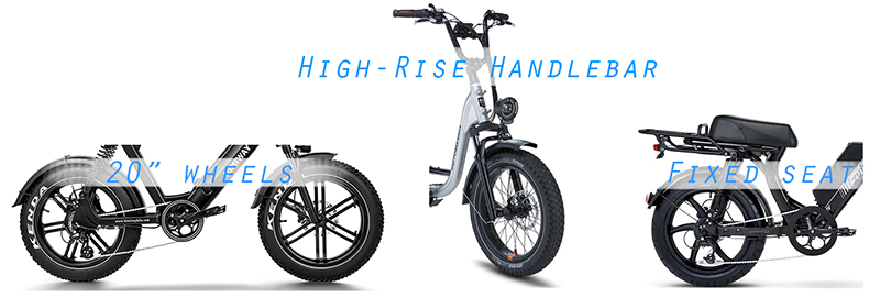 features of a moped style ebike