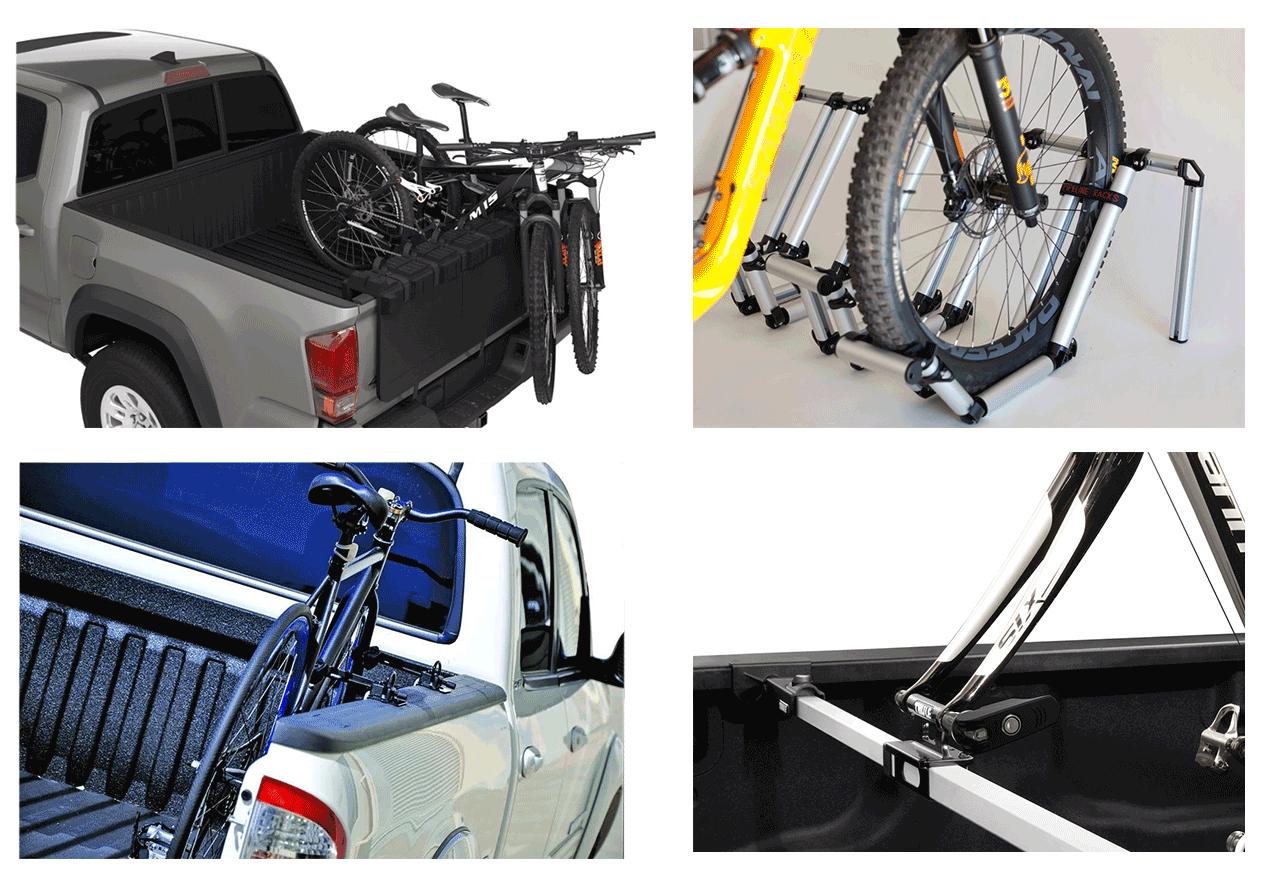 truck bed bike rack types