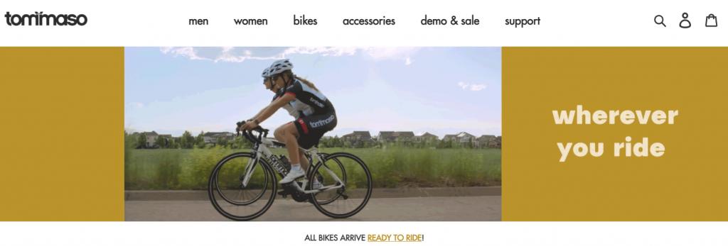 tommaso cycling website