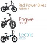 Lectric XP 2.0 vs RadMini 4 vs Engwe EP2 Pro