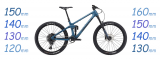 A Selection of 130-160mm Trail/All-mountain bikes